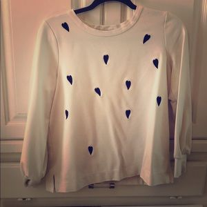 Heart blouse - Anne Taylor - off white